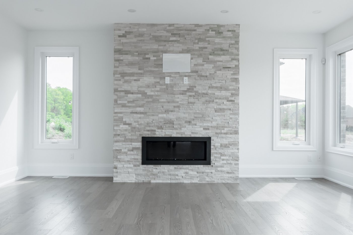Fireplace accent wall ceramic decor for Fireplace accent wall