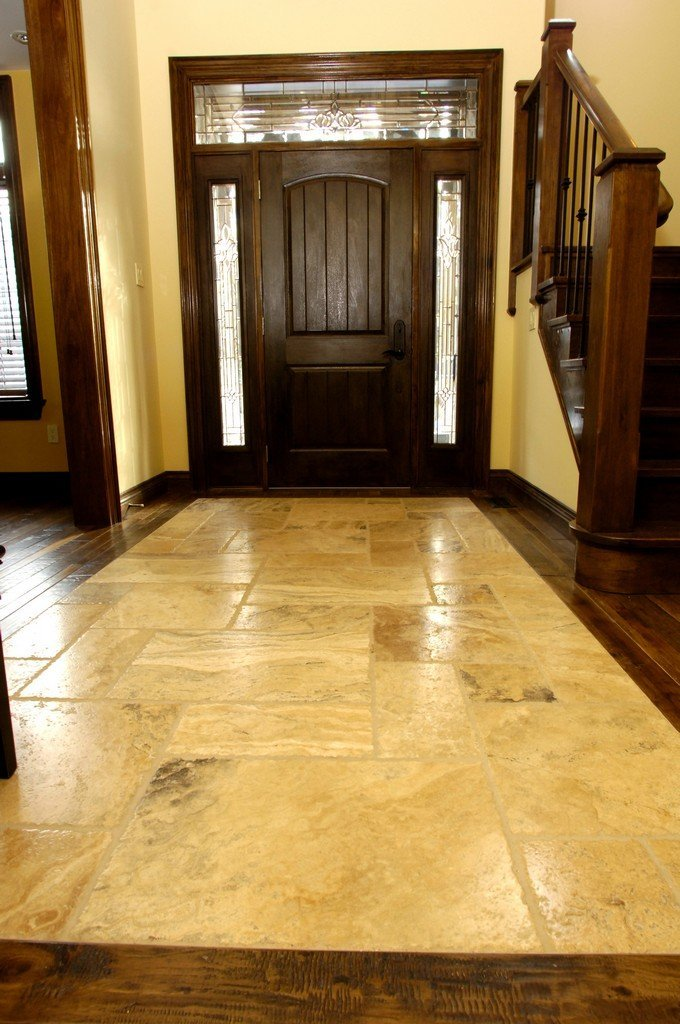 Stone Tiled Entrance Way Floor