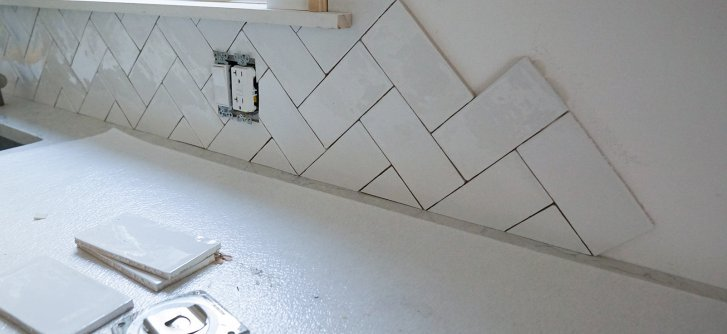 DIY Backsplash Installation