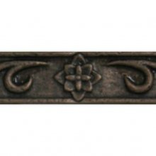 Clearance - FLORAL BORDER RUST 1.25x8  79-023