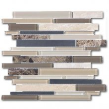 Clearance - GLASS STONE STAINLESS WOODLAND PARK 12x12 LINEAR **DNR  35-043