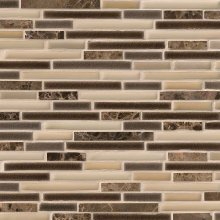 VERONA INTERLOCKING GLASS STONE 12x12 MOSAIC  SMOT-SPIL-VE8MM