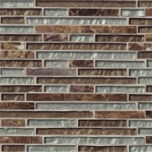 CELESTINE BLEND INTERLOCKING GLASS STONE 12x12 RANDOM STRIP  SMOT-SGLSIL-CB8MM