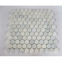 "32STM002 POLISHED ICY WHITE 1"" HEXAGON 12x12  32STM002"
