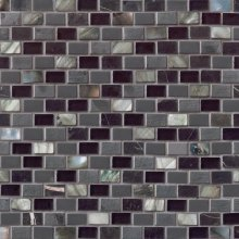 MINI BRICK MOSAIC MIDNIGHT PEARL 12x12  SMOT-SGLSMT-MNPRL8MM