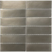 METAL MOSAICS SATIN NICKEL 2x6 STACKED (UNSANDED GROUT)  79-160