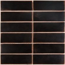 METAL MOSAICS SATIN OIL RUBBED BRONZE 2x6 STACKED (UNSANDED GROUT)  79-163