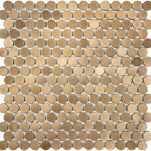 METAL MOSAICS SATIN NICKEL .x. PENNY ROUND (UNSANDED GROUT)  79-172