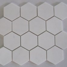 42STM036 ARISTON WHITE HEXAGON 11.5x10.5 POLISHED MOSAIC  .
