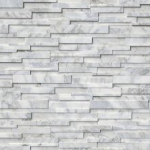 3D STACKED STONE PANEL CALACATTA CRESSA 6x24 HONED  LPNLMCALCRE624-3DH