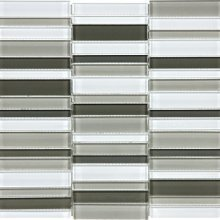 ELEMENT GLASS MINERAL BLEND 12x12 STRAIGHT STACKED MOSAIC  35-065